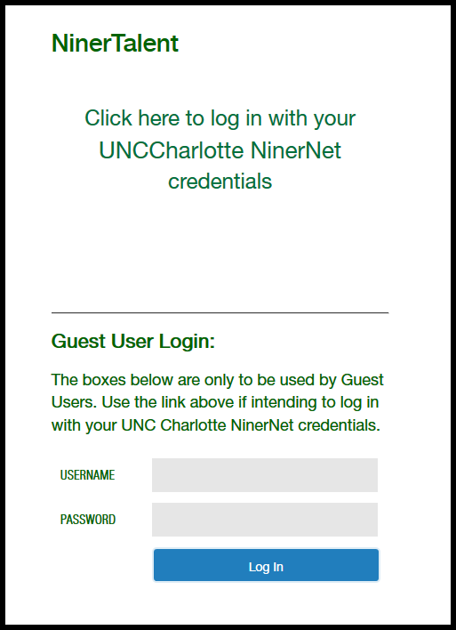 How To Login | Human Resources | UNC Charlotte
