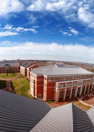 Rooftop view of campus